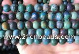 CCS895 15 inches 10mm round natural chrysocolla gemstone beads