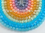 CCT01 Different color 10mm faceted round cat eye beads Wholesale