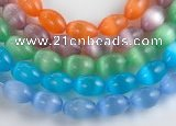 CCT06 10*14mm different color rice cats eye beads Wholesale