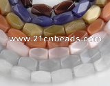 CCT07 14 inches 9*16mm faceted brick cats eye beads Wholesale
