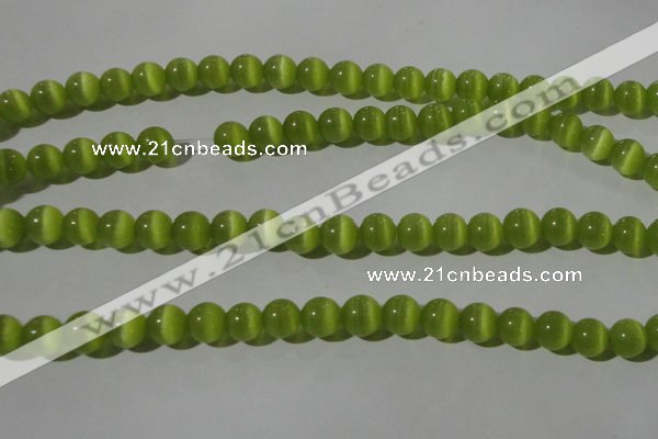 CCT1347 15 inches 6mm round cats eye beads wholesale