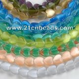 CCT14 10*12mm different color heart cats eye beads Wholesale
