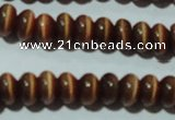 CCT248 15 inches 3*6mm rondelle cats eye beads wholesale