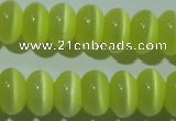 CCT276 15 inches 5*8mm rondelle cats eye beads wholesale