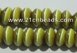 CCT278 15 inches 5*8mm rondelle cats eye beads wholesale