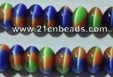 CCT291 15 inches 5*8mm rondelle cats eye beads wholesale