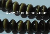 CCT293 15 inches 5*8mm rondelle cats eye beads wholesale