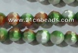 CCT365 15 inches 6mm faceted round cats eye beads wholesale