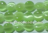 CCT460 15 inches 6mm flat round cats eye beads wholesale