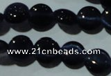 CCT468 15 inches 6mm flat round cats eye beads wholesale