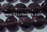 CCT491 15 inches 8mm flat round cats eye beads wholesale