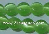 CCT496 15 inches 8mm flat round cats eye beads wholesale