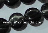 CCT529 15 inches 10mm flat round cats eye beads wholesale