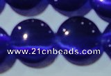CCT551 15 inches 12mm flat round cats eye beads wholesale
