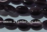 CCT642 15 inches 6*8mm oval cats eye beads wholesale