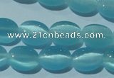 CCT643 15 inches 6*8mm oval cats eye beads wholesale
