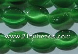CCT650 15 inches 6*8mm oval cats eye beads wholesale