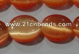 CCT695 15 inches 10*12mm oval cats eye beads wholesale