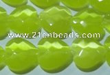 CCT985 15 inches 16*16mm faceted heart cats eye beads wholesale