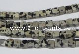 CCU04 15.5 inches 4*4mm cube dalmatian jasper beads wholesale