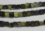 CCU12 15.5 inches 4*4mm cube yellow turquoise beads wholesale