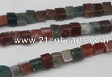 CCU26 15.5 inches 5*5mm cube Indian agate beads wholesale