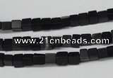 CCU31 15.5 inches 5*5mm cube black agate beads wholesale