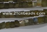 CCU311 15.5 inches 4*4mm cube labradorite beads wholesale