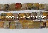 CCU42 15.5 inches 6*6mm cube agate gemstone beads wholesale