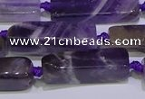 CCU602 15.5 inches 8*20mm - 10*30mm cuboid dogtooth amethyst beads
