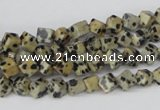 CCU93 15.5 inches 4*4mm cube dalmatian jasper beads wholesale