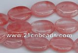 CCY157 15.5 inches 13*18mm oval cherry quartz beads wholesale