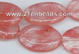 CCY159 15.5 inches 20*30mm oval cherry quartz beads wholesale