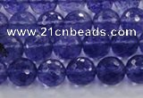CCY603 15.5 inches 10mm faceted round blue cherry quartz beads
