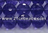 CCY607 15.5 inches 18mm faceted round blue cherry quartz beads