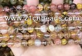 CCY641 15.5 inches 6mm round volcano cherry quartz beads