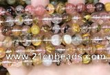 CCY642 15.5 inches 8mm round volcano cherry quartz beads
