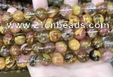 CCY644 15.5 inches 12mm round volcano cherry quartz beads