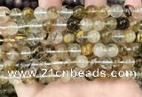 CCY647 15.5 inches 8mm round volcano cherry quartz beads