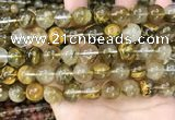 CCY650 15.5 inches 14mm round volcano cherry quartz beads