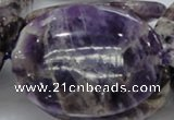 CDA12 15.5 inches 35*50mm oval dogtooth amethyst quartz beads