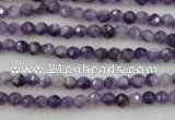 CDA150 15.5 inches 4mm faceted round dogtooth amethyst beads