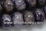 CDA20 15.5 inches 15*20mm rondelle dogtooth amethyst quartz beads