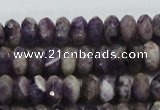 CDA21 15.5 inches 6*10mm faceted rondelle dogtooth amethyst beads