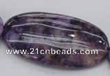 CDA306 15.5 inches 30*60mm oval dyed dogtooth amethyst beads
