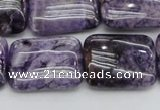 CDA311 15.5 inches 18*25mm rectangle dyed dogtooth amethyst beads