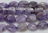 CDA322 15.5 inches 7*9mm faceted oval dyed dogtooth amethyst beads