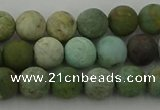 CDB102 15.5 inches 8mm round matte New dragon blood jasper beads