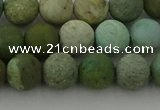 CDB103 15.5 inches 10mm round matte New dragon blood jasper beads