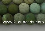 CDB104 15.5 inches 12mm round matte New dragon blood jasper beads